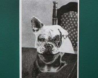 ACEO Print SWEET TEMPATIONS ACEO mini painting art dog frenchie french bulldog