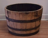 Half White Oak Whiskey Barrel-The Real Deal-Smells Like Bourbon-FREE SHIPPING