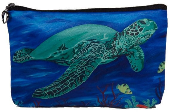 aeb7cb29a4b9 Sea Turtle Cosmetic Bag by Salvador Kitti Support Wildlife