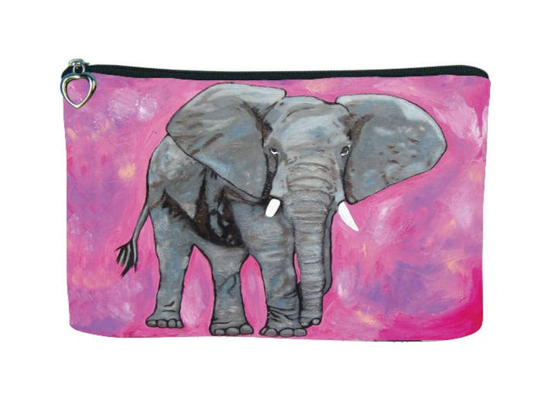 798f666cb9d1 Elephant Cosmetic Bag by Salvador Kitti - From My Painting, Kelly