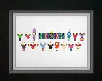 Katamari Damacy Cross Stitch Pattern