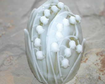 Cameo Lily of the Valley Soap Sculpture  with goat's Milk Glycerin, Aloe and Vitamin E