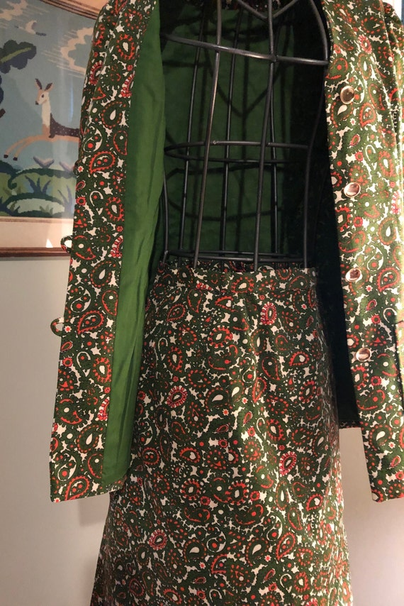1965 green and orange paisley corduroy suit - image 10