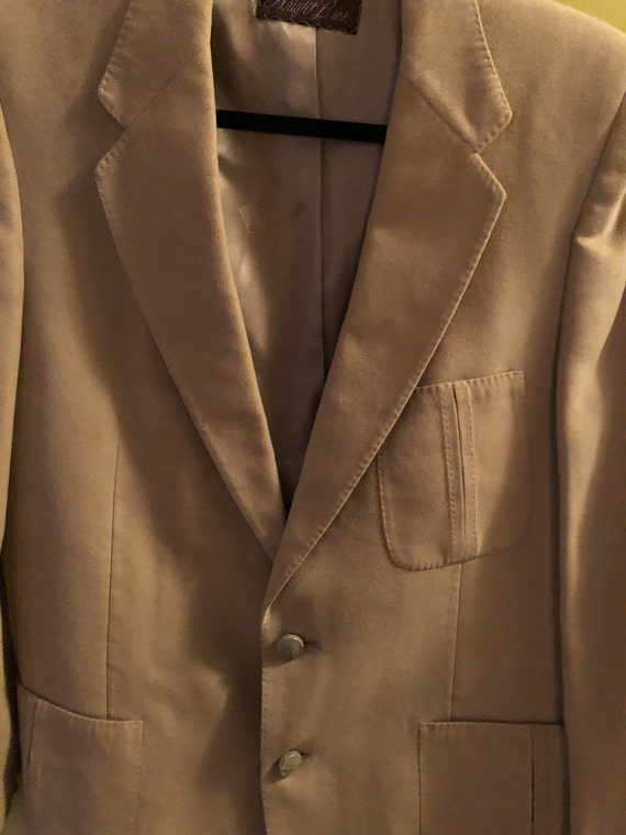 1970s men's Lanvin Feather Suede sport coat - image 3