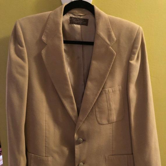 1970s men's Lanvin Feather Suede sport coat - image 1
