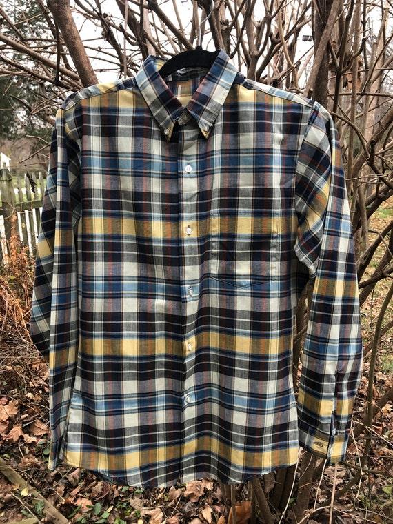 Men's 1960s madras shirt