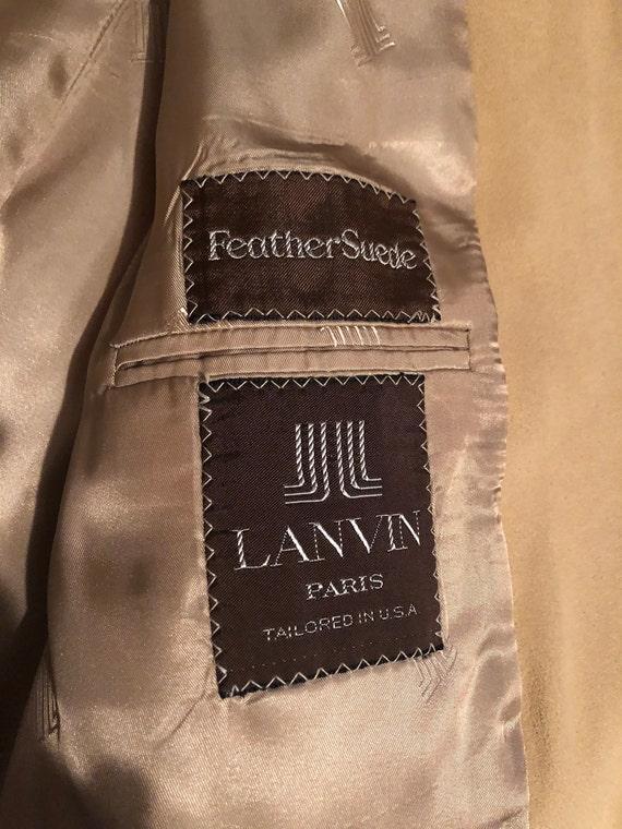 1970s men's Lanvin Feather Suede sport coat - image 9
