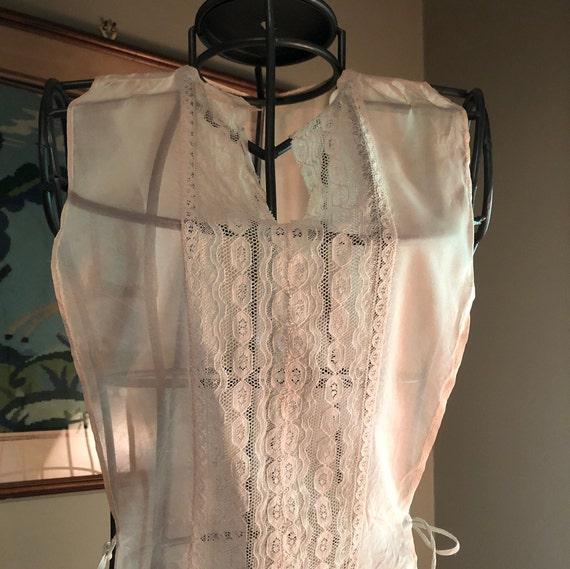1930s ballet pink silk dickie