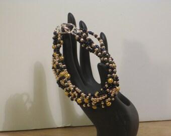 BBW Bracelet black gold