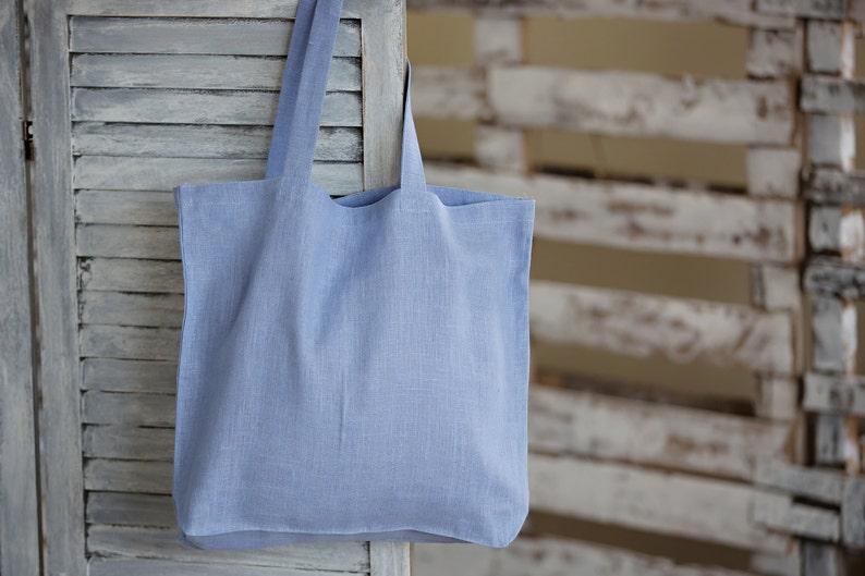 6e71acb2a0 Sac cabas lavande en lin sac shopping en toile lin bleu lin | Etsy
