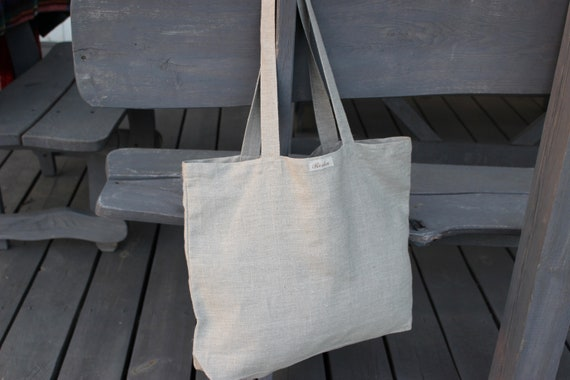 6d00a59e9 Linen Bag with pockets inside Tote Bag Canvas Bag Linen | Etsy