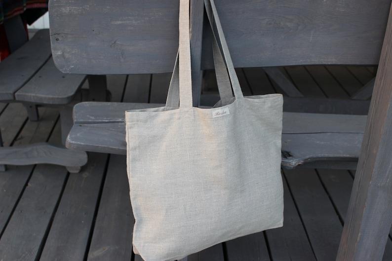 0a59b6c392 Sac en lin avec poches à lintérieur sac cabas sac en toile | Etsy