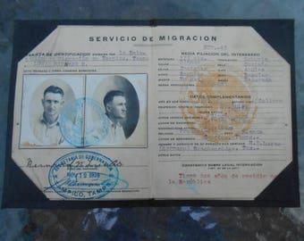 1926 Passport Immigration Papers Identification Mexico Bernard N. Lucas