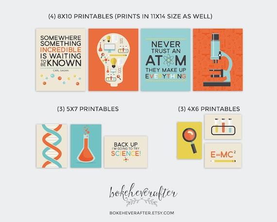 Wissenschaft druckbare Kindergarten Printables Chemie Galerie | Etsy