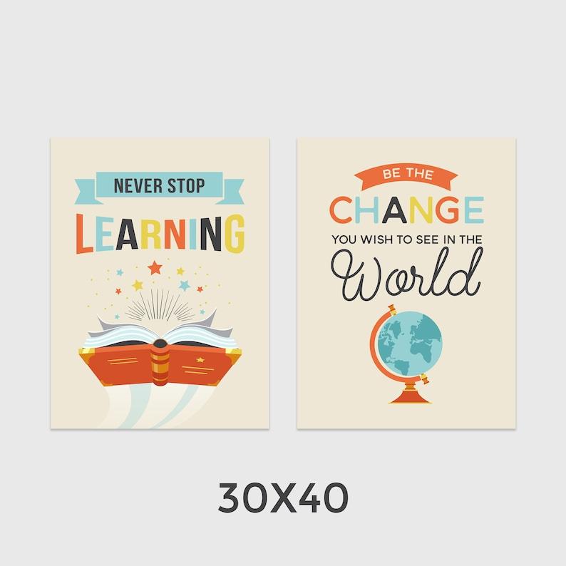 Klasie Do Druku Plakaty Szkolne Galeria Motywacyjne ścianie Nauka Cytaty Nauczyciel Pedagog Klasy Edukacyjnych Instant Download
