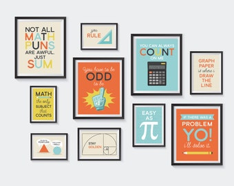 Math Puns Printable, Nursery Printables, Mathematics Pun Gallery Wall, Learning, School, Pi, Funny Art, Kids, Educational, INSTANT DOWNLOAD