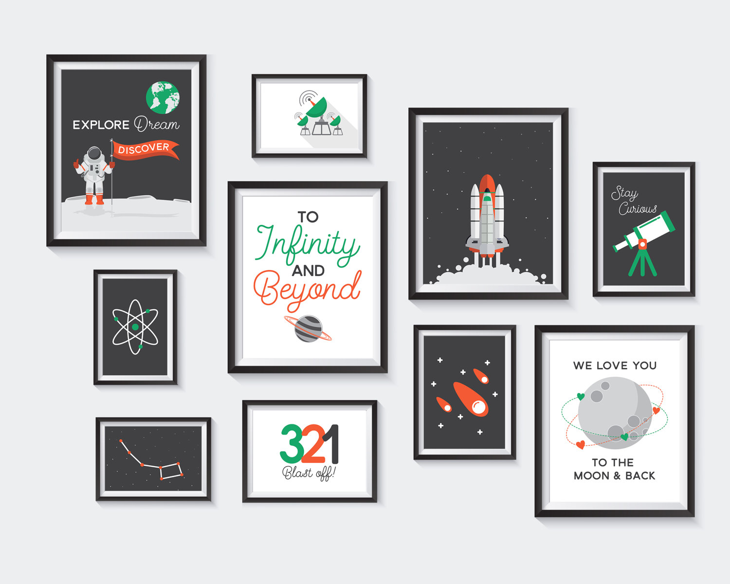 Outer Space Printable Nursery Printables Astronaut Gallery
