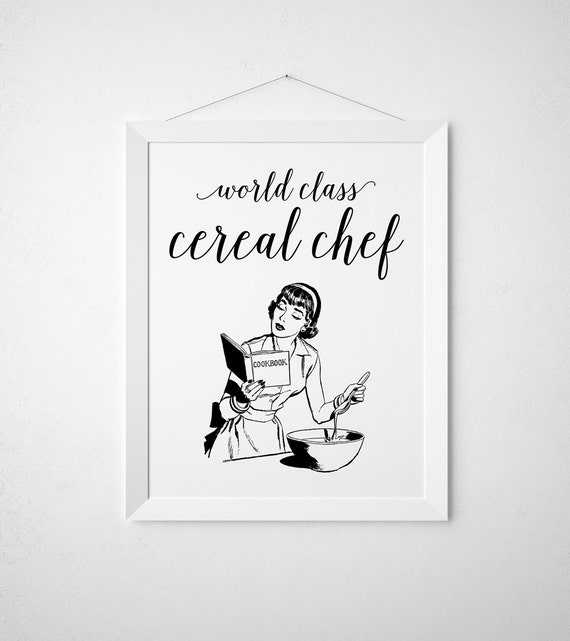 mix it up silhouette print Funny kitchen wall art print Handwritten font