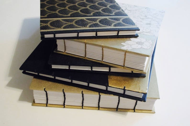 Small Art Deco Gold and Ivory Geometric Guest Book Instax Photo Album