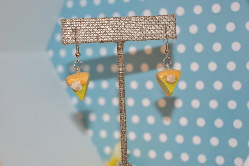 Key Lime Pie Earrings Dangle Earrings Pie Earrings Food image 0