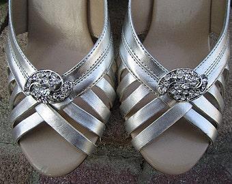 Bridal Rhinestone Shoe Clips Wedding Shoe Accessory -- GWEN