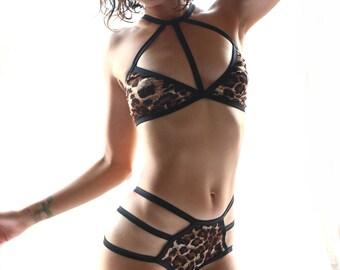 Lingerie Set - mesh - sheer panties - see through panties - see through lingerie - sheer lingerie - bralette - sheer underwear - lingerie