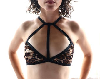 Bralette - crop top - sheer bra - see through bra - see through lingerie - sheer lingerie - see through - bdsm - clothing - lingerie - women