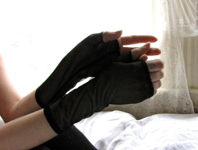 Fingerless Gloves Lingerie Mesh Gloves BDSM Sheer Dress BDSM Gloves Fingerless Gloves Black Black Fingerless Sheer Gloves