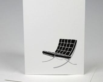 Barcelona Chair Letterpress Card