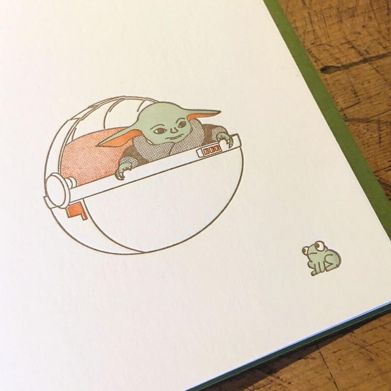 Star Wars Baby Yoda Letterpress Card