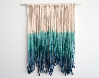 Hand Dyed Macrame Wall Hanging
