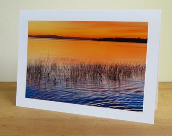 Sunset Gradient on Vermont Lake  - Inspirational / Birthday / Sympathy / Just Because Greeting Card