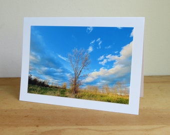 Tree in Field - Promise of Tomorrow - Inspirational / Birthday / Sympathy / Just Because Greeting Card