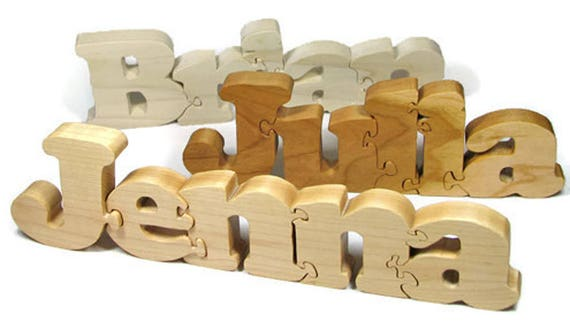 wooden name puzzle personalized name puzzle custom name etsy
