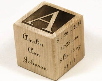 Personalized Wooden Baby Blocks, Baby Shower Gift, Baptism Gift Baby Blocks, Newborn Gift