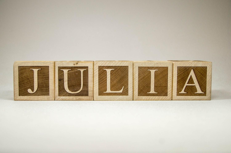 Personalized Wood Name Blocks Letter Custom Blocks For