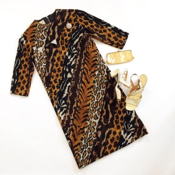 Animal Print Dress // 60s Parade New York Gown