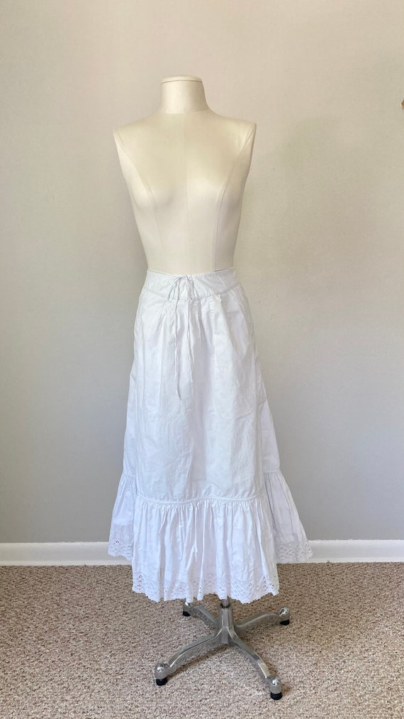Edwardian Cotton Petticoat