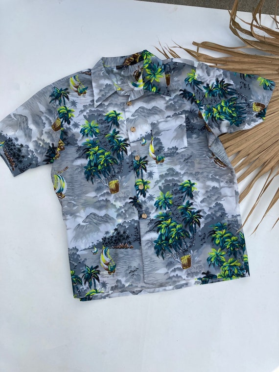 Vintage Hawaiian Shirt // Men's XL 70s Towncraft S
