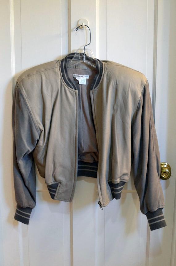 1980er Jahre Nancy Heller Beige Lederjacke Damen Größe 1 | Etsy