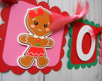 Items Similar To Burlap Gingerbread Banner Baby S First