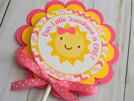 You Are My Sunshine Cake Topper Sunshine Smash Cake Topper