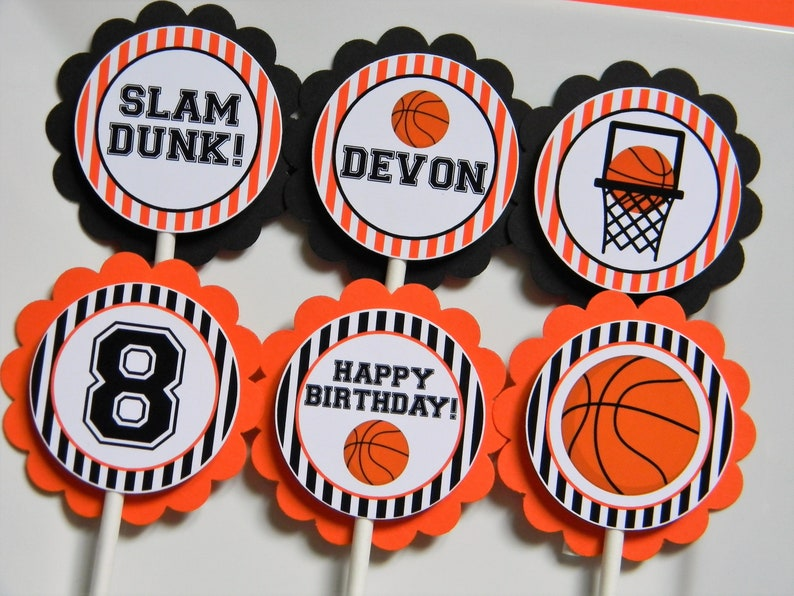 Bands Without Stones Earnest Happy Birthday Basketball Cupcake Cake Toppers Art Door Cake Flags Kids Birthday Party Baby Shower Wedding Baking Decor