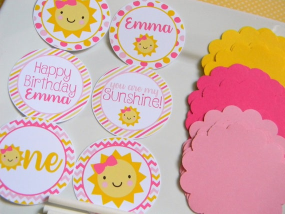 You Are My Sunshine Diy Cupcake Toppers Sunshine Party Decorations Sunshine Cupcake Toppers Sunshine Party Supplies Set Of 12