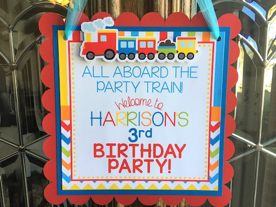 Train Door Sign Train Birthday Party Train Party Supplies Train Birthday Decor Train Welcome Sign Train Door Hanger Train Party Decor