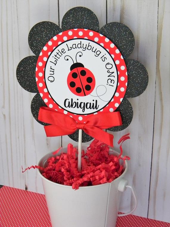 Ladybug Cake Topper Smash Circle