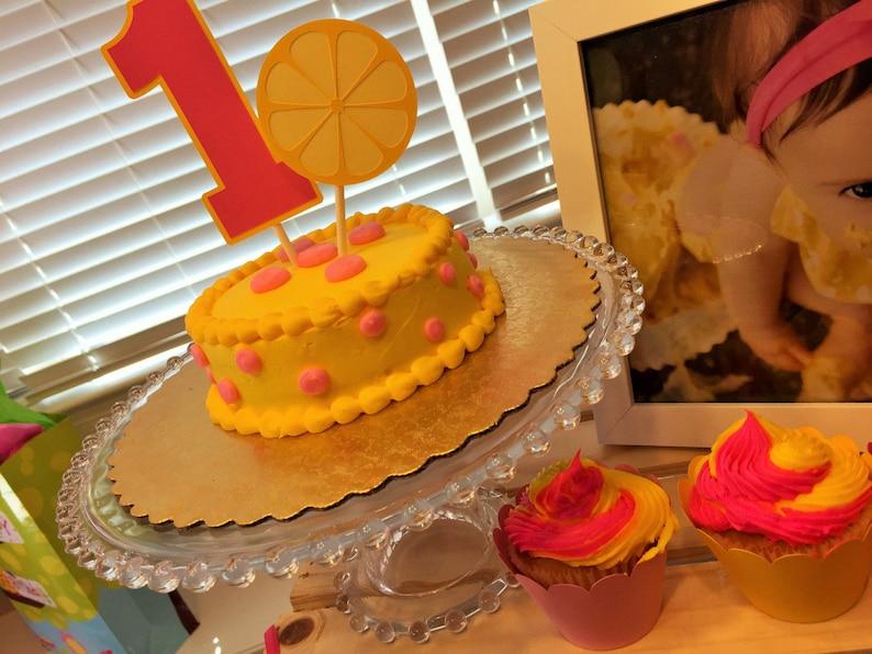 Sensational Lemonade Birthday Cake Topper Lemonade Smash Cake Topper Etsy Funny Birthday Cards Online Drosicarndamsfinfo