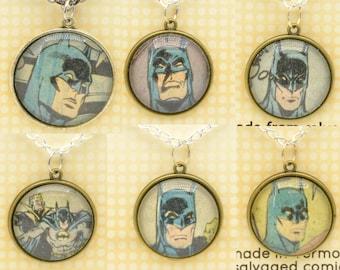 Batman Comic Book Pendants, made from salvaged comics