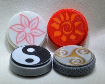 Hand fidget / spinners: 3D printed, customizable, metal-free, hand-held fidget