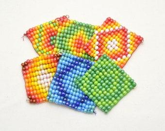 Beaded pocket fidgets: Rollable, foldable mandalas